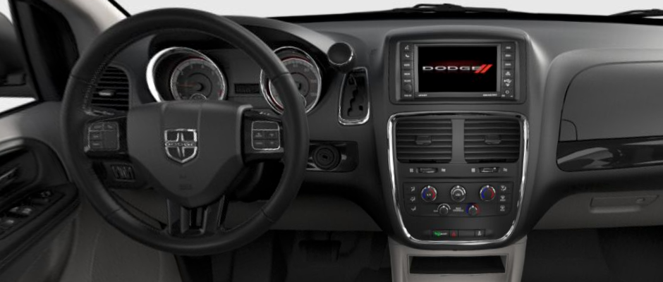 The dashboard of the Dodge Grand Caravan