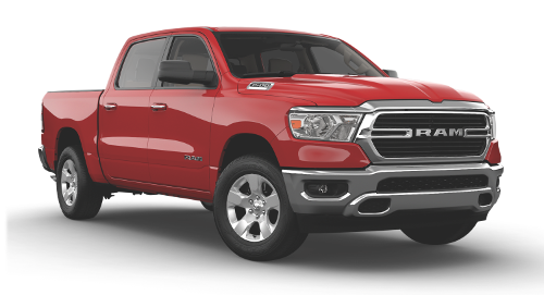 A Flame Red Ram 1500 Big Horn Crew Cab