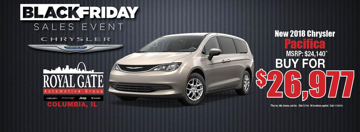 Chrysler Pacifica Special Offer