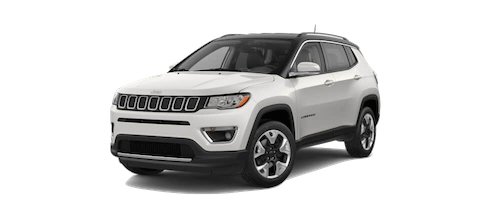 A white Jeep Compass Limited