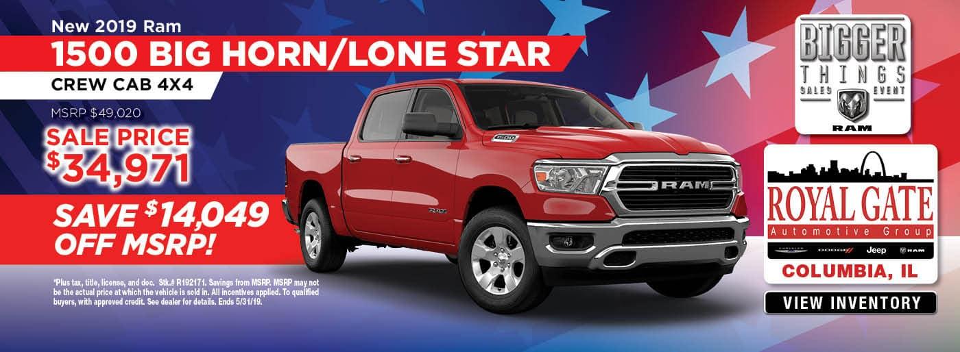 2019 Ram 1500 Big Horn Lone Star