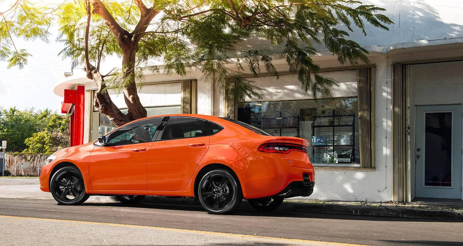 Orange 2016 Dodge Dart Sporty Styling Exterior