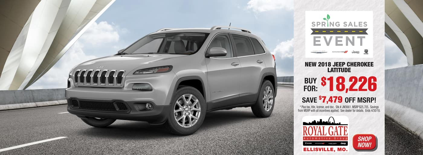 2018 Jeep Cherokee Royal Gate Chrysler Dodge Jeep Ram Ellisville
