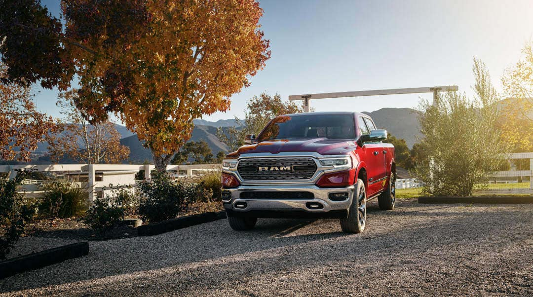 A red 2019 Ram 1500