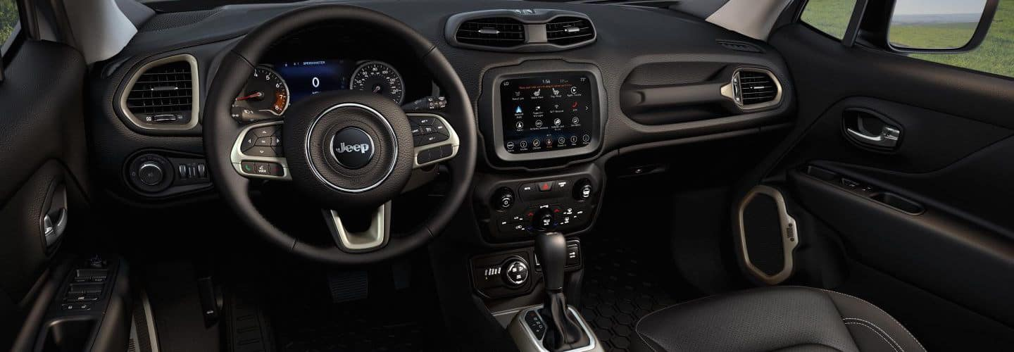the interior of the Jeep Renegade