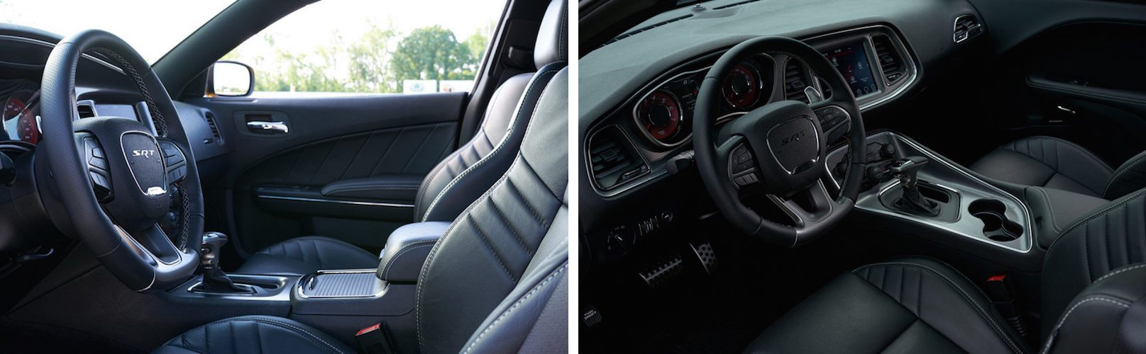 The interior of the Dodge Charger and Challenger