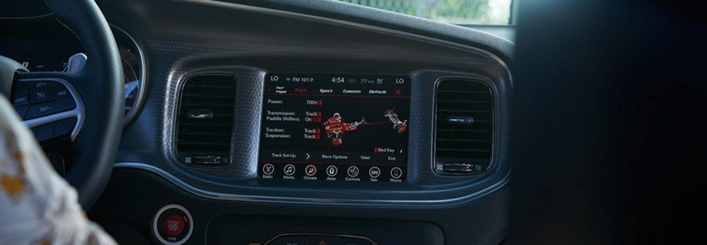 The infotainment system on the Dodge Charger