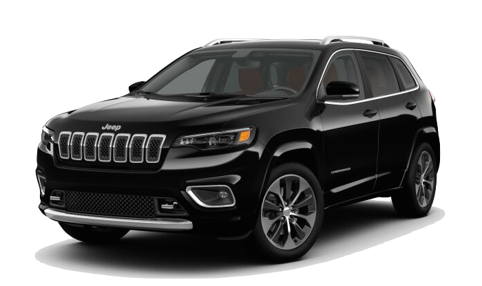 A black Jeep Cherokee on a transparent background