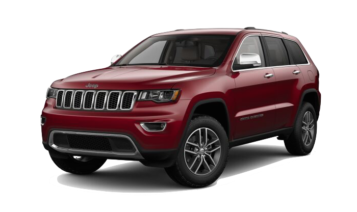 A Velvet Red Jeep Grand Cherokee on a transparent background