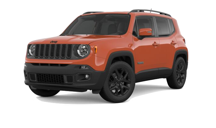 An Orange Jeep Renegade on a transparent background