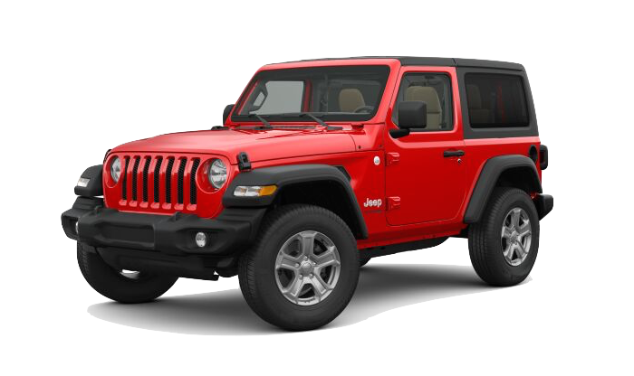 A Red Jeep Wrangler Unlimited