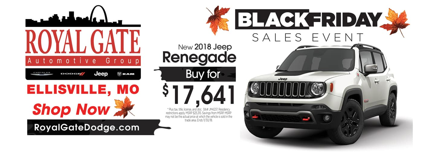 2018 Jeep Renegade Special Offer
