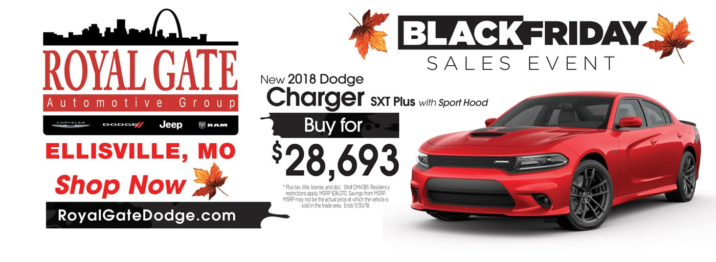 2018 Dodge Charger Special Offer