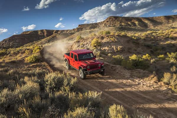 2020 Jeep Gladiator 4x4 features driving down hill