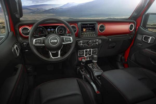 2020 Jeep Gladiator interior dashboard