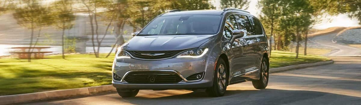 2019 Chrysler Pacifica driving down street