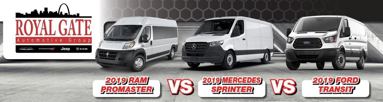 2019 Ram ProMaster 1500 vs. Mercedes Sprinter vs. Ford Transit