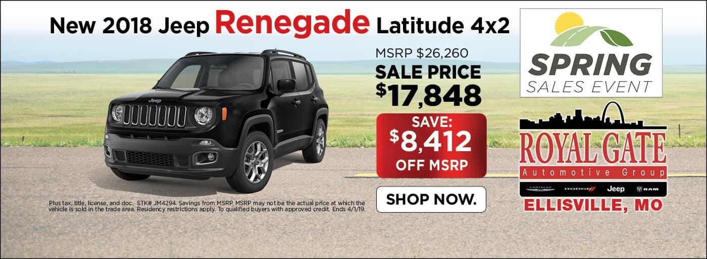 2018 Jeep Renegade Latitude 4x2