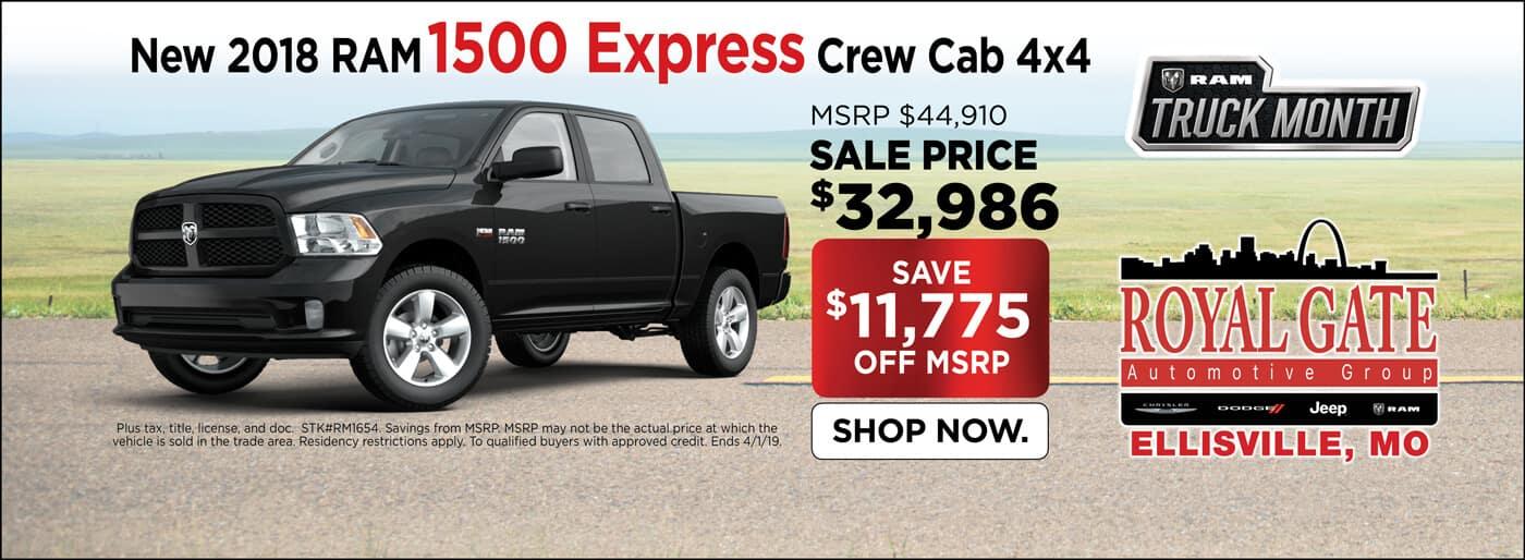 2018 Ram 1500 Express Crew Cab 4x4