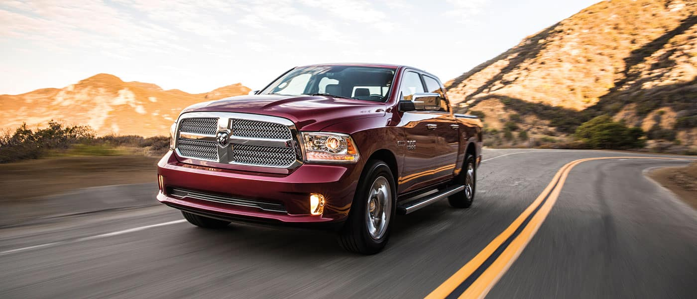 2019 Ram 1500 exterior view driving down road