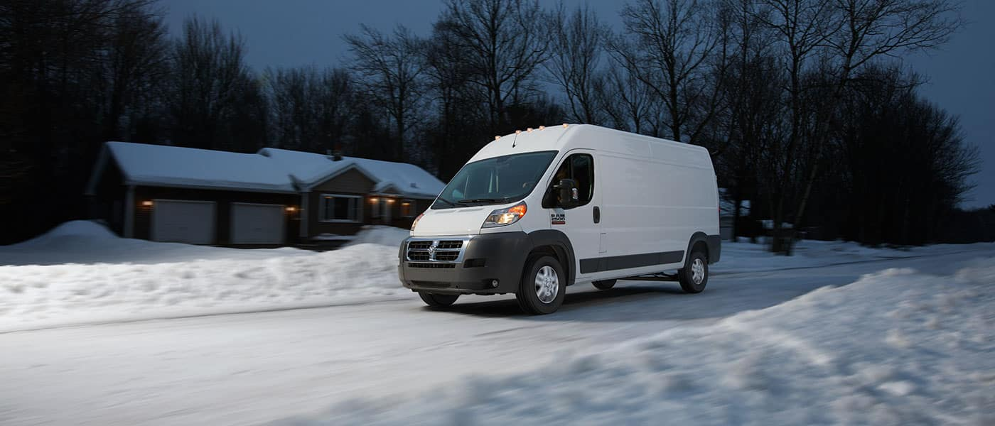 2019 Ram ProMaster 1500 driving in snow