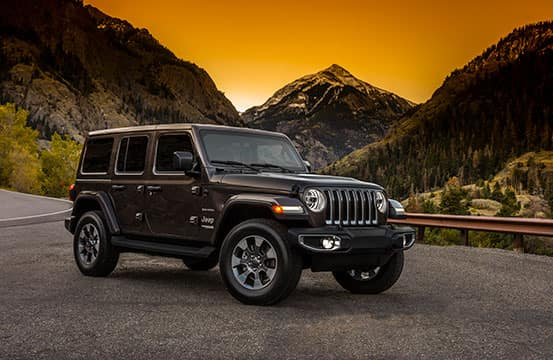 A black 2018 Jeep Wrangler