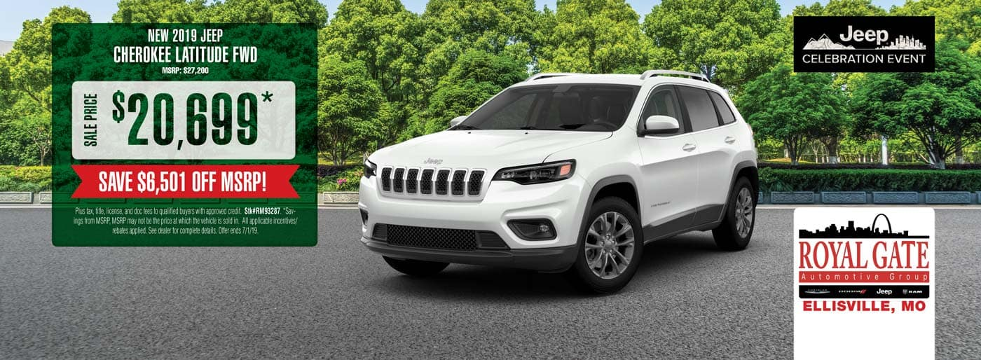 Save $6,501 off MSRP on a 2019 Jeep Cherokee Latitude