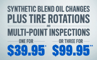 oil change, tire rotation, inspection
