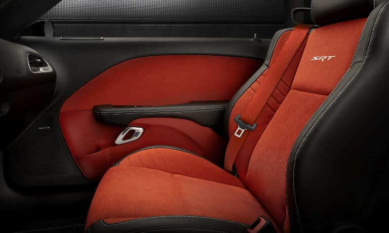 2019 Red Dodge Challenger interior