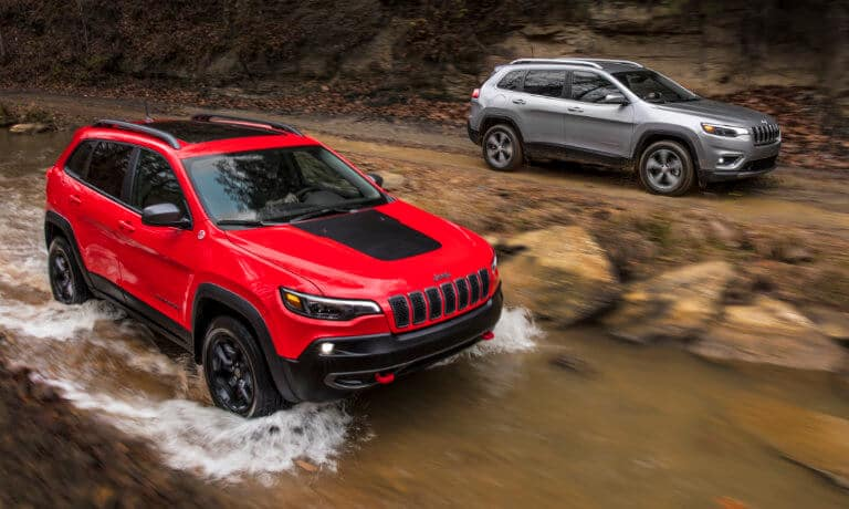 2019 Jeep Cherokee water fording