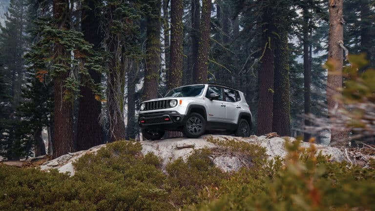 Silver 2019 Jeep Renegade ground clearance
