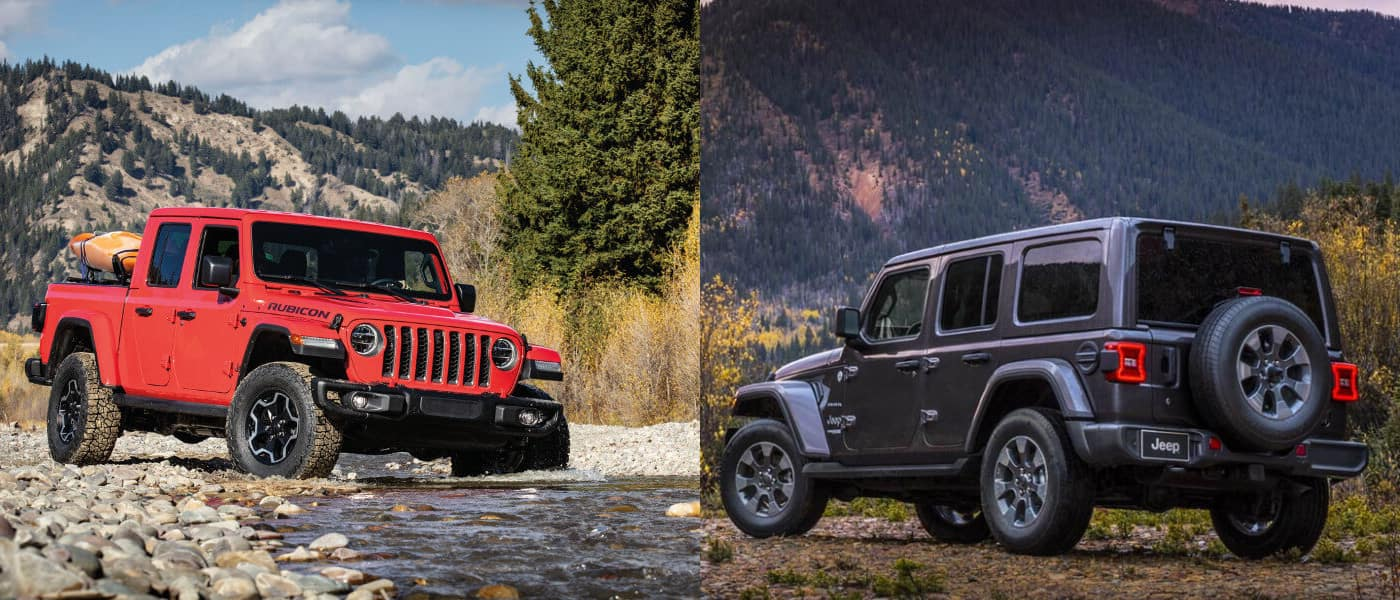 2020 Jeep Gladiator vs 2019 Jeep Wrangler exterior