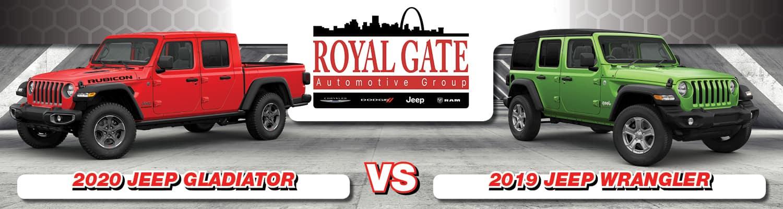 2020 Jeep Gladiator vs 2019 Jeep Wrangler