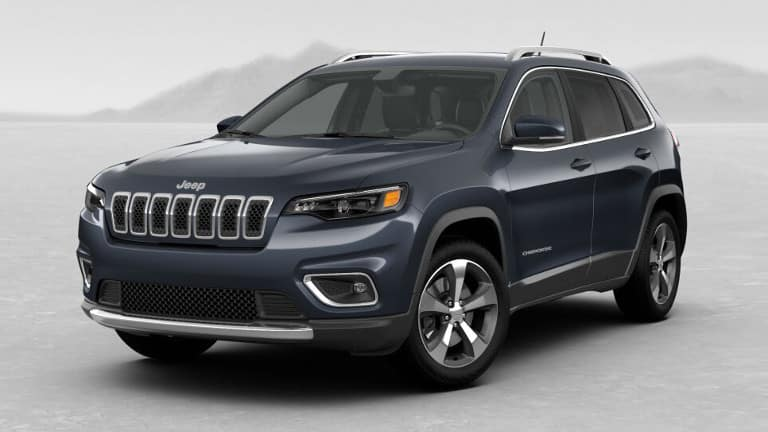 Blue 2019 Jeep Cherokee Limited