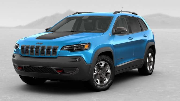 Blue 2019 Jeep Cherokee Trailhawk Elite