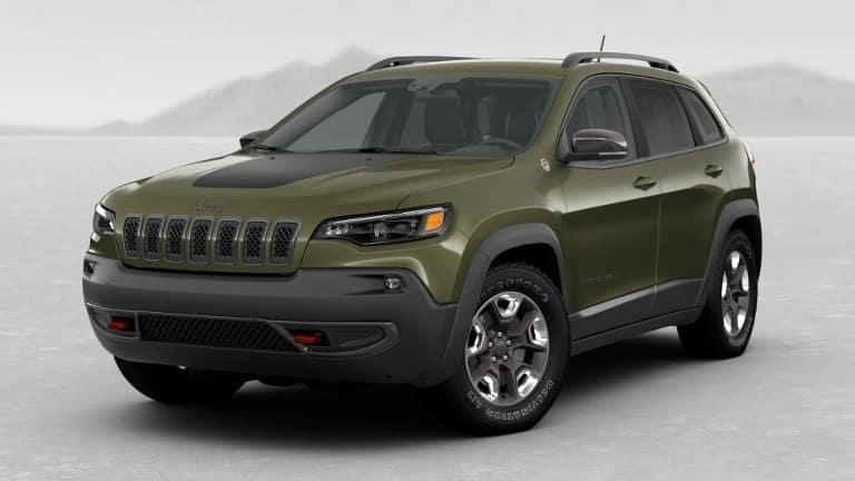 Green 2019 Jeep Cherokee Trailhawk