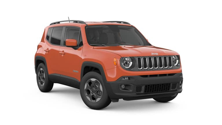 An orange 2018 Jeep Renegade Latitude