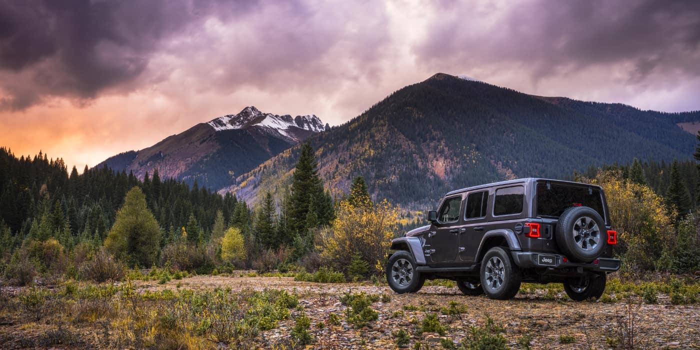 2019 Jeep Wrangler on field