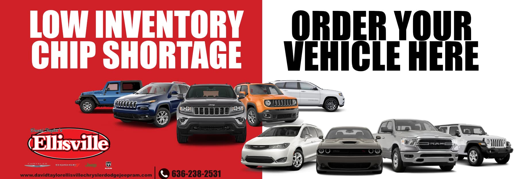 Low Inventory Chip Shortage - Order Your Vehicle Now