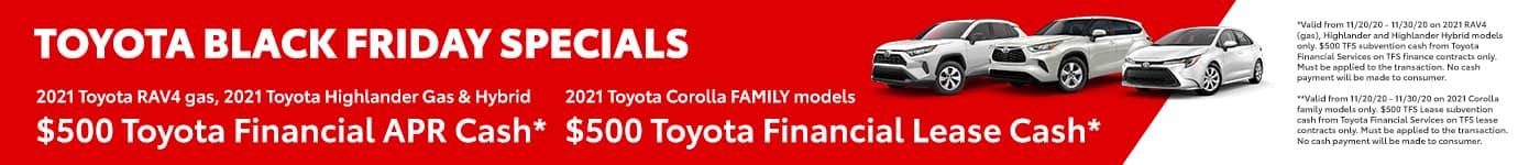 Toyota Black Friday Specials