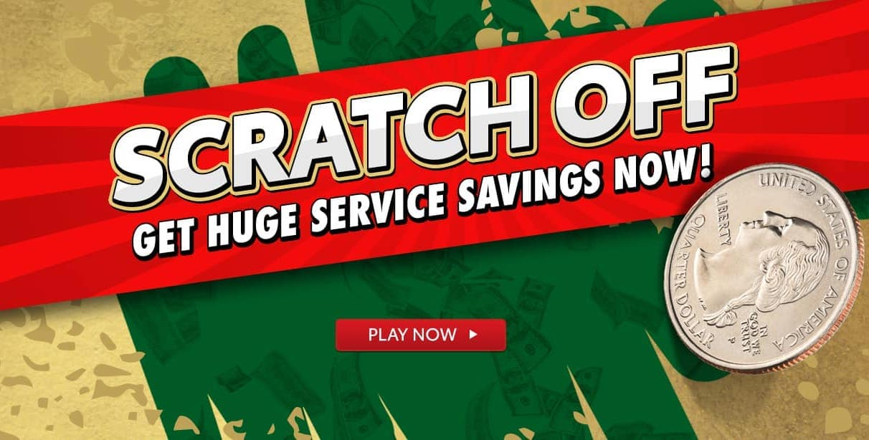 Scratch Off Service Savings