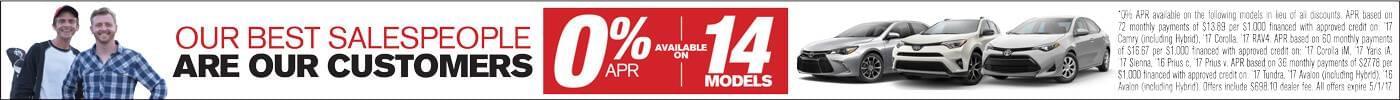 0% APR on 14 Models