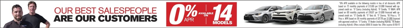 0% APR for 14 models
