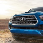 2016 Toyota Tacoma blue exterior model front view