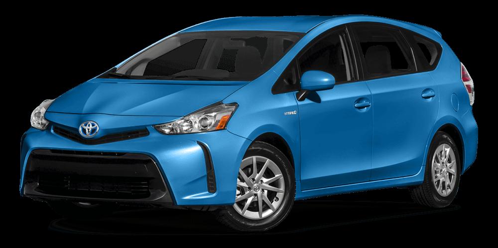 2017 Toyota Prius v Blue