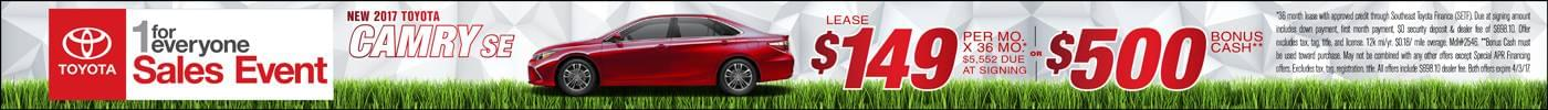 Lease 2017 Toyota Camry $149