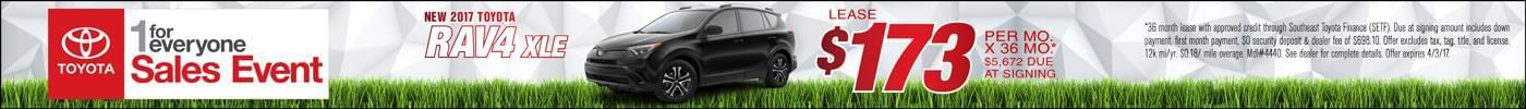 Lease 2017 Toyota RAV4 $173