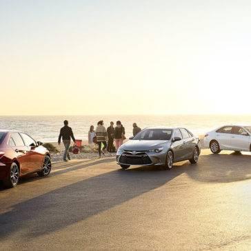 Toyota-Camry-Lineup-On-Beach