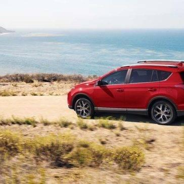 Toyota RAV4 SE Driving By Beach