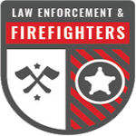 Law Enforcement and Firefighters badge